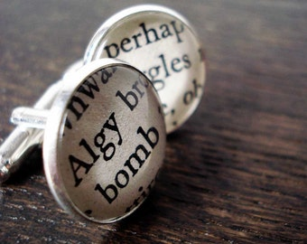 Cufflinks for Men, Biggles Cufflinks, Book Cufflinks, Vintage Children's Book
