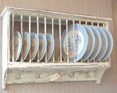 13 Slot PLATE RACK Order your color and finish choice Country Cottage Farmhouse Primitive
