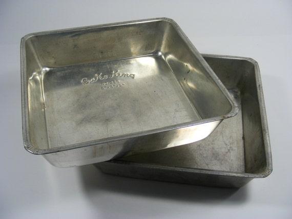 Bake King Vintage 8 X 8 Tin Baking Pans For