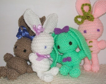 SALE! Bun Bun Bunnies knitting pattern pdf