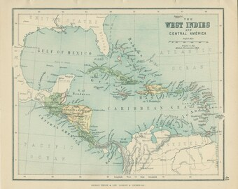 West indies map etsy gumiabroncs Choice Image