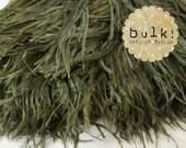 OLIVE - BULK - Vogue Ostrich Thrill - Feather Trim - Ostrich Trim - Wholesale Feathers