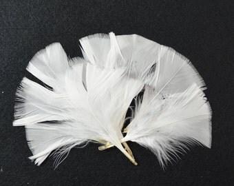 96pcs Turkey Flat Feathers-White