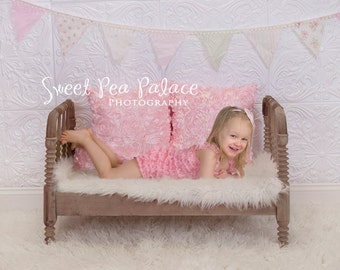 Newborn Baby Child Photography Prop Digital Backdrop for Photographers - Shabby Bench