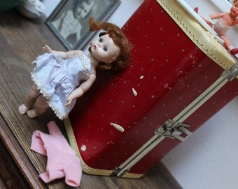 Madame Alexander Doll ALEX with Red Case and outfit Walker Red Hair VINTAGE by Plantdreaming