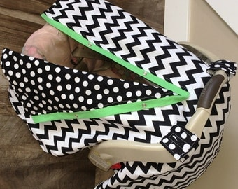 Car Seat Canopy Free Shipping Code Today Chevron Stripe Cover Nursing