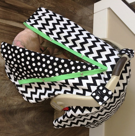 Car seat canopy Free Shipping Code Today Chevron Stripe / car seat cover / nursing cover / carseat canopy / carseat cover