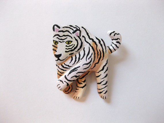 Vintage Tiger Brooch