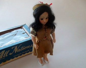 Vintage Dolls of All Nations Duchess Indian Brave Doll 1950s