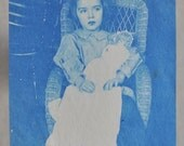 Antique Cyanotype Photograph on Paper