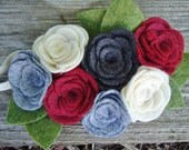 Matilda Jane Inspired  Winter Holiday Felt Flower Headband