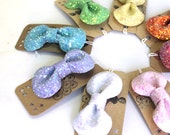 SALE Glitter Hair Bow -Candy Pastel Collection