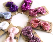 SALE Glitter Hair Bow - So Many Pinks Girly Collection
