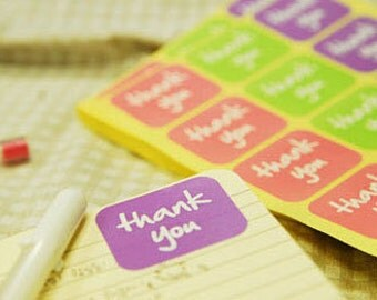 Thank you label stickers 315, U6015