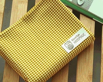 Lovely Murky Mustard check Cotton, U7222
