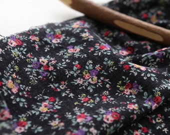 Lovely roses on Charcoal Azumino Napping WIDE 150cm, U7262