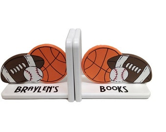 Sport Bookends in orange by Pookie Boutique