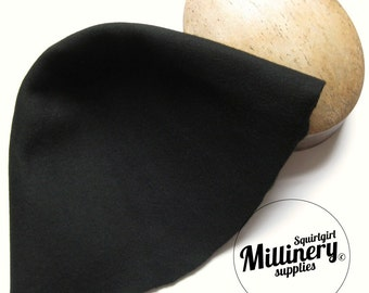 Black 100% Wool Felt Cone Hood Hat Body for Millinery & Hat Making