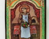 Retablo retablos Foodie San Pasqual Patron of chefs bakers cooks and kitchens -retablo print