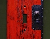 Red Switchplate cover