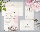 Peony Invitation Suite | Printable