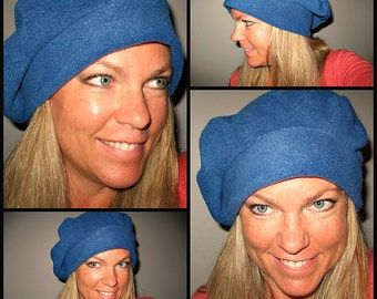 Fleece baggie Hat SLOUCHY Fleece Slouch Beanie The perfect hat when on the go BLUE Hat Teal slouchy beanie