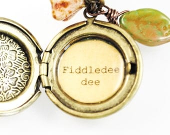 Gone With the Wind - Women's Locket - Fiddledee dee - Scarlett O'Hara, Georgia, Quote Locket, Margaret Mitchell