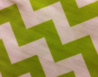 Riley Blake 100% Cotton Medium Chevron-Lime