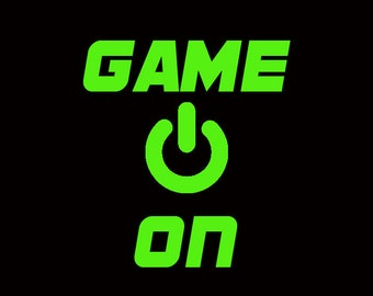 Game On Neon Print Customize to All Sizes and Colors - TShirt , Vneck, Tank Top
