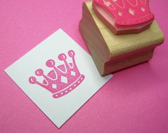 Crown Stamp - Little Crown Hand Carved Rubber Stamp - Princess Rubber Stamp - Gift for Girls - Princess Gift - Fancy Dress - Tiara