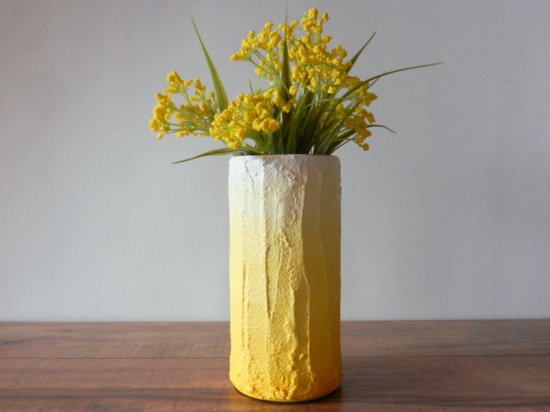 Yellow Home Decor Handcrafted Vase Zoom