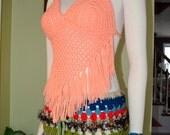 My Fashion Gypsy Hippie Pixie Top in Peach SALE