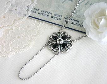 Black Wedding Jewelry, Black Wedding Necklace, black wedding, Black Bridal Necklace - Black Renaissance Necklace