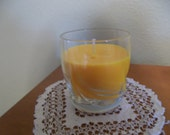 Glass of Freshly Squeezed Orange Juice Candle-10 ounces-OOAK