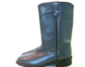 Vintage Acme Smoke Gray Cowboy Boots // Size 6 1/2