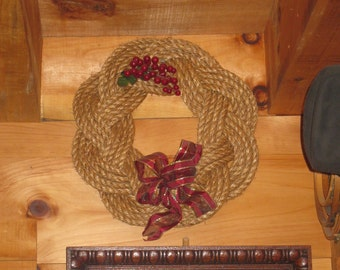 Sailor Knot Rustic Manila Rope Wreath