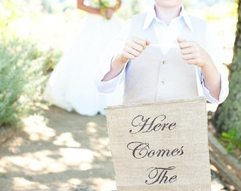 Here Comes The Bride banner as seen in style me pretty!
