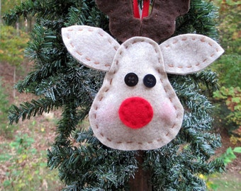 Reindeer Ornament, Christmas Ornament, Christmas Decoration, Stocking Stuffer, Package Decoration