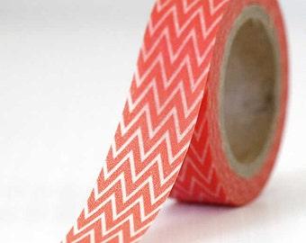 Zig Zag Deep Orange Washi Tape Packaging