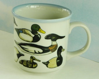 Ducks and Decoys Mug by Otagiri. Designed by Stanley Papel.