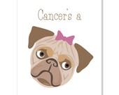 Female Dog Warrior/Cancer Card