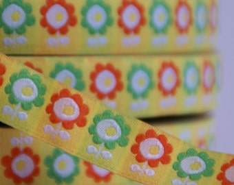 woven ribbon 'Frog prince flowers'