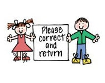 Please correct and return stamp • Teacher Stamp • Classroom Supplies • Back to School (D1675)