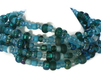 Teal Beaded Bracelet, One of a Kind, Gifts for Women Mom Wife Sister Daughter Grandma Teacher Under 25, Stocking Stuffers