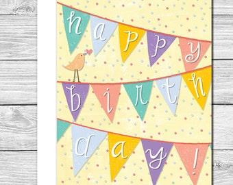 It s a banner birthday hand drawn birthday card