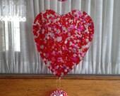 Homemade 'I love You'  bead 3 piece Suncatcher