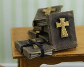 Dollhouse Miniature Religious Books - Listing for 2 - Reserved for David