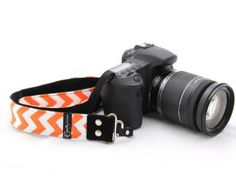Chevron Orange SLR Fashion Camera Strap