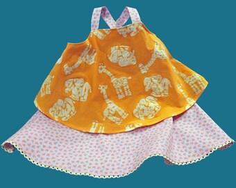 BABY GIRL dress in sweet sherbet colors