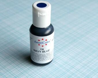 NAVY Blue Food Coloring, Dark Blue Gel Paste, Americolor Gel Paste Food Coloring, Navy Blue Food Dye